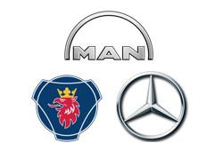 Грузовые автомобили MAN, MB, SCANIA
