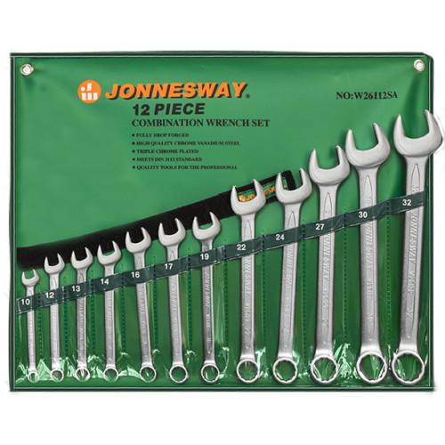 W26112SA JONNESWAY Набор ключей гаечных комбинированных в сумке, 10-32 мм, 12 предметов