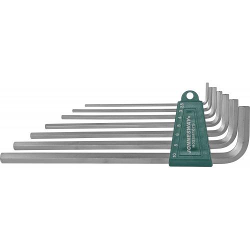 H03SM107S JONNESWAY Комплект угловых шестигранников Extra Long 2,5-10 мм, S2 материал, 7 предметов