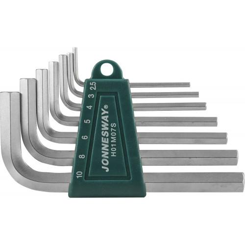 H01M07S JONNESWAY Комплект угловых шестигранников 2,5-10 мм, S2 материал, 7 предметов