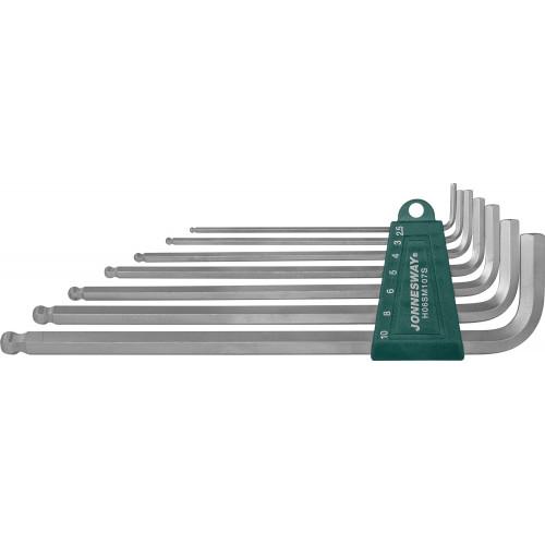 H06SM107S JONNESWAY Комплект угловых шестигранников Extra Long с шаром 2,5-10 мм, S2 материал, 7 предметов