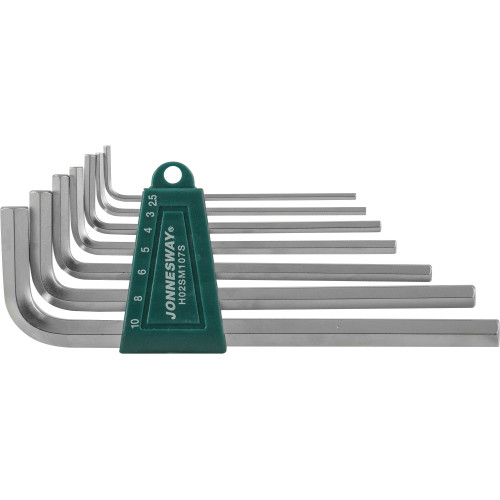 H02SM107S JONNESWAY Комплект угловых шестигранников Long 2,5-10 мм, S2 материал, 7 предметов