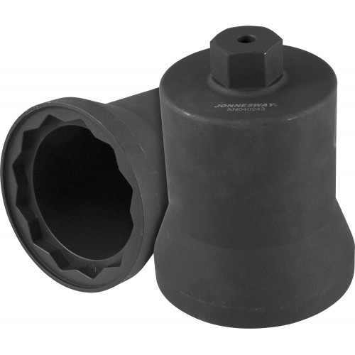 AN040243 JONNESWAY Головка торцевая с внешним приводом Н36 мм, 12-гранная, 95 мм, для ступичных гаек грузовых а/м Mercedes