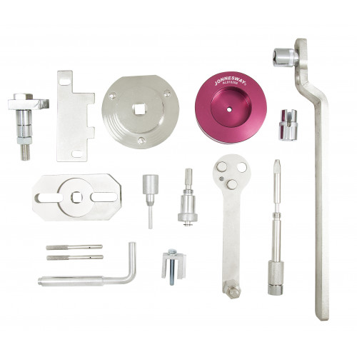 AL010208 JONNESWAY Набор приспособлений для установки фаз ГРМ двигателей коммерческих а/м FIAT / IVECO / FORD