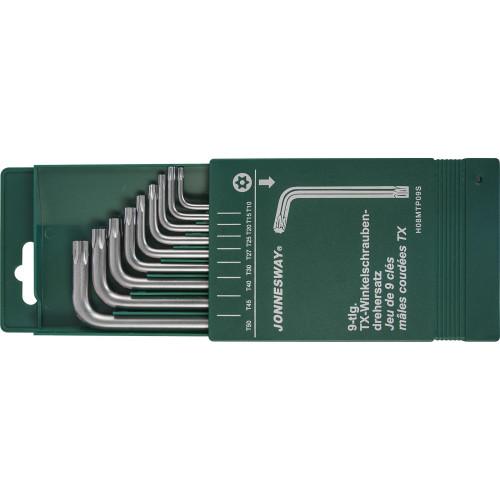 H08MTP09S JONNESWAY Комплект угловых ключей Torx с центрированным штифтом Т10-Т50, S2 материал, 9 предметов