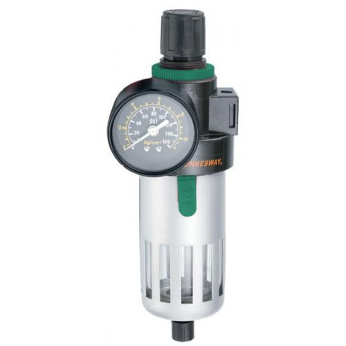 """JAZ-0532 JONNESWAY Фильтры (влагоотделители) с регулятором давления для пневмоинструмента, 1/4"""""""
