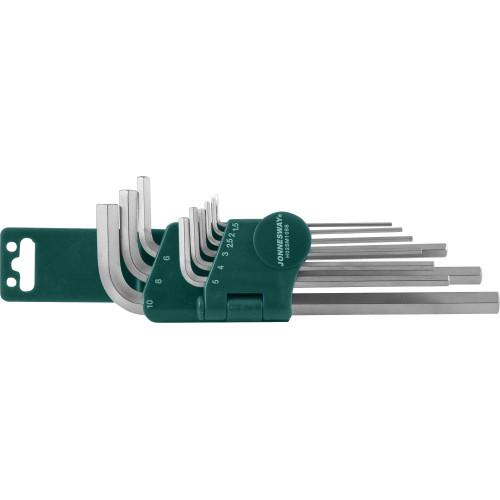 H02SM109S JONNESWAY Комплект угловых шестигранников Long 1,5-10 мм, S2 материал, 10 предметов