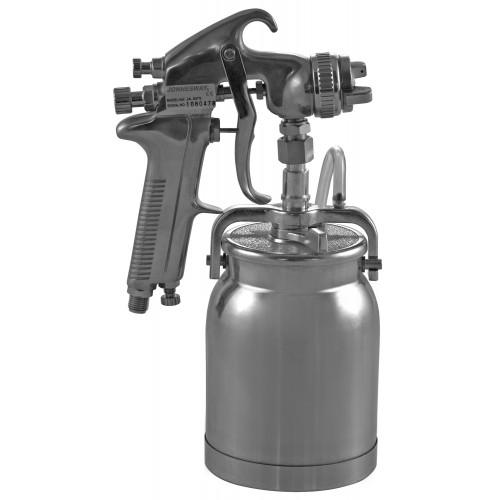 "JA-507S JONNESWAY Покрасочный пистолет ""Краскопульт"", нижний бачок алюминиевый 1л, дюза 1,6 мм"