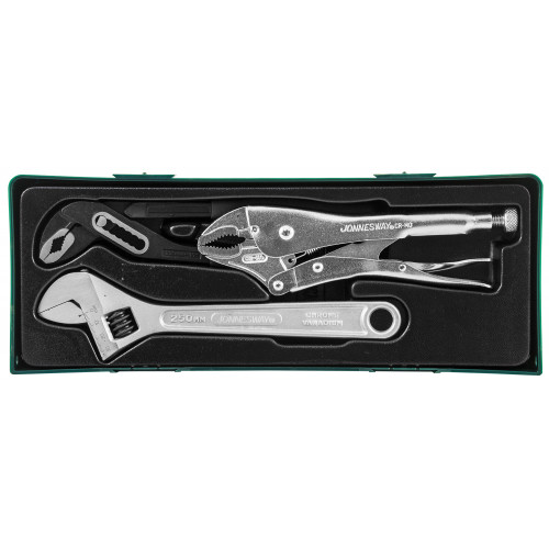 P2803ST JONNESWAY Набор инструмента: разводной ключ, ручные тиски, переставные клещи, 3 предмета (ложемент)