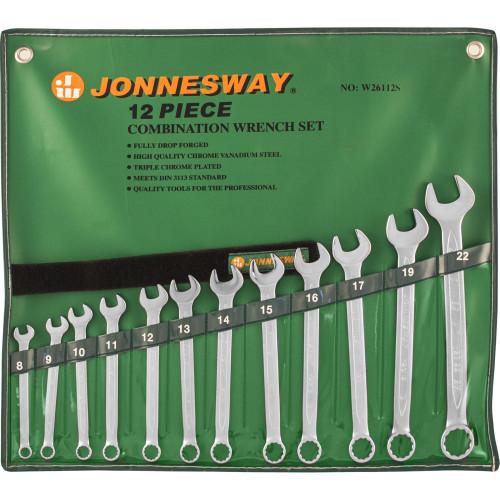W26112S JONNESWAY Набор ключей гаечных комбинированных в сумке, 8-22 мм, 12 предметов