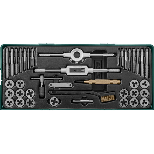 AG10001SP JONNESWAY Набор метчиков и плашек с аксессуарами 40 предметов (ложемент)