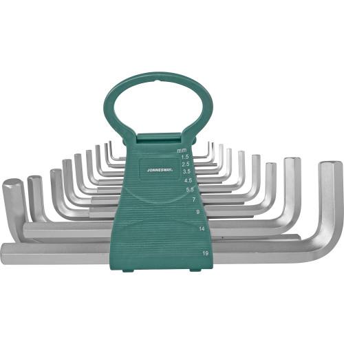 H02MH118S JONNESWAY Набор ключей торцевых шестигранных удлиненных 1,5-19 мм. 18 предметов