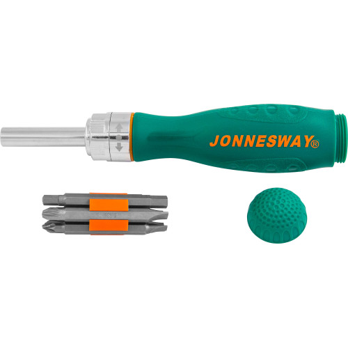 DR0107S JONNESWAY Отверточная рукоятка трещоточная с набором бит 7 предметов