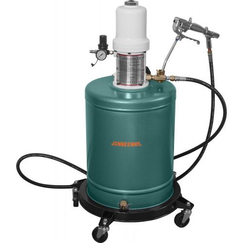AE300073 JONNESWAY Нагнетатель консистентной смазки пневматический. Емкость 20 л.
