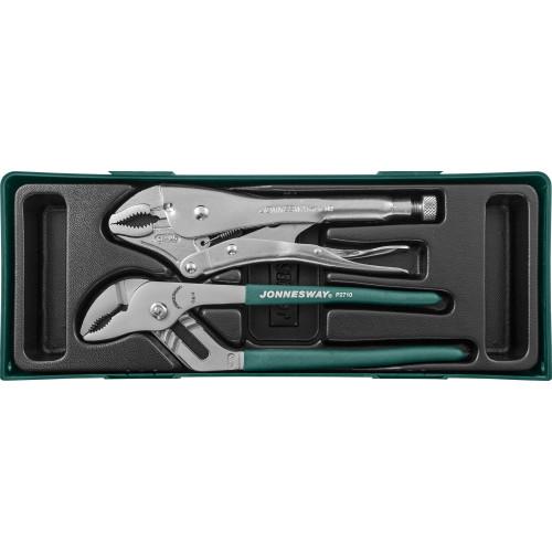 P2710ST JONNESWAY Набор инструмента, переставные клещи и ручные тиски, 2 предмета (ложемент)