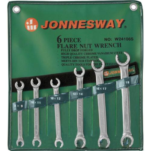 W24106S JONNESWAY Набор ключей гаечных разрезных в сумке, 8-19 мм, 6 предметов