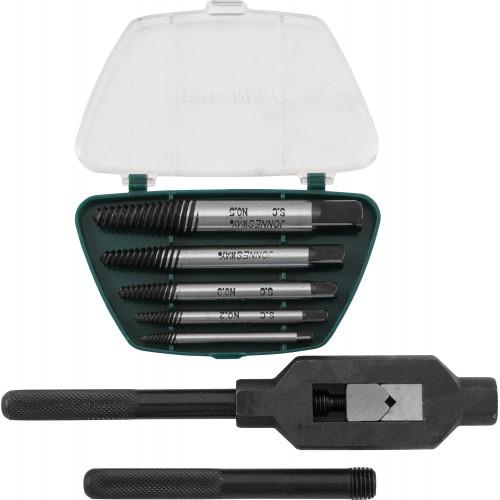 AG010110 JONNESWAY Набор экстракторов спиральных конических с держателем 7 предметов.