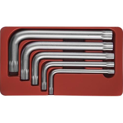 H15M105S JONNESWAY Набор угловых ключей Spline М-профиль, М5-М12, 5 предметов