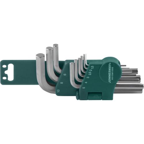 H01SM109S JONNESWAY Комплект угловых шестигранников 1,5-10мм, S2 материал, 9 предметов