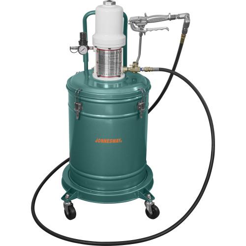 AE300072 JONNESWAY Нагнетатель консистентной смазки пневматический. Емкость 30 л.