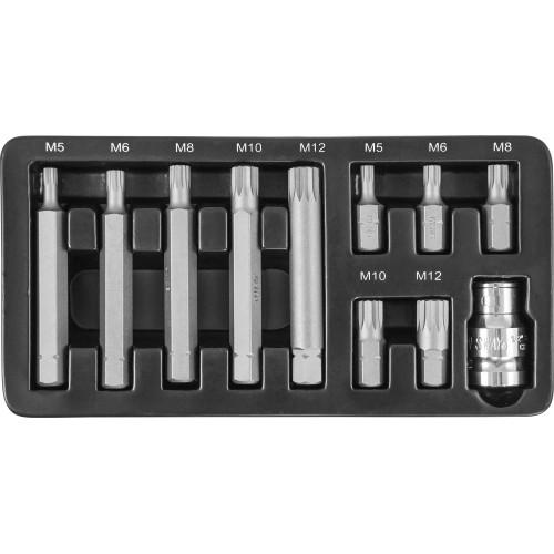 S29H4111S JONNESWAY Набор вставок-бит 10 мм Spline М-профиль (30 и 75 мм), М5-М12, 11 предметов