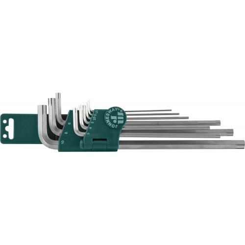 H22S109S JONNESWAY Набор ключей торцевых шестигранных для изношенного крепежа Н1,5-Н10, 9 предметов