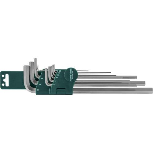 H02SM109SL JONNESWAY Комплект угловых шестигранников Extra Long 1,5-10 мм, S2 материал, 9 предметов