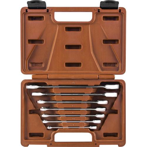 935007 Ombra Набор ключей гаечных комбинированных трещоточных SNAP GEAR, 8-19 мм, 7 предметов