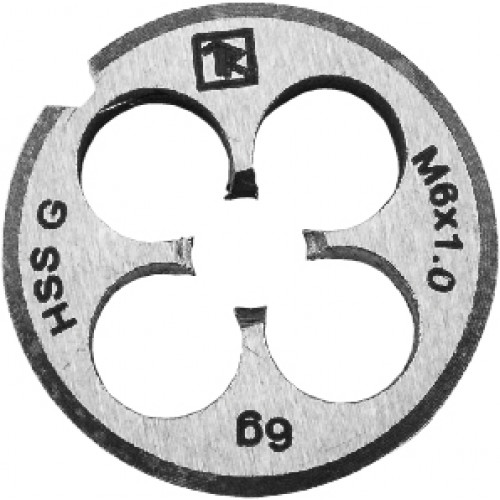 MD61 Thorvik Плашка D-COMBO круглая ручная М6х1.0, HSS, Ф20х7 мм