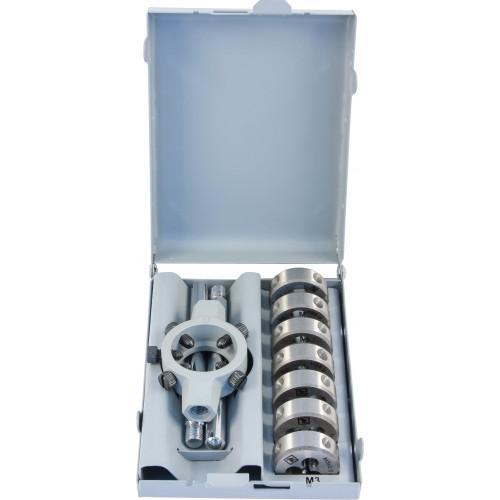 MDS8 Thorvik Набор плашек D-COMBO круглых ручных М3-М12, HSS, 8 предметов