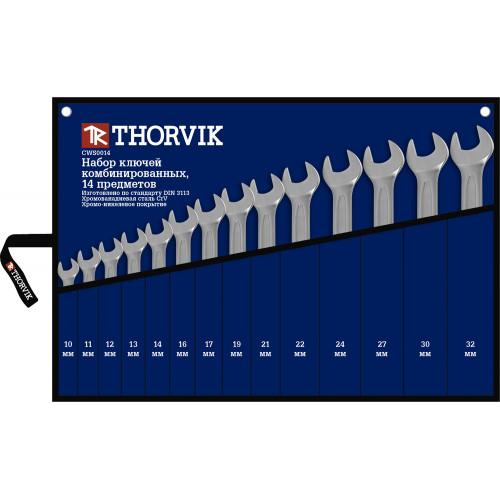 CWS0014 Thorvik Набор ключей комбинированных в сумке 10-32 мм, 14 предметов