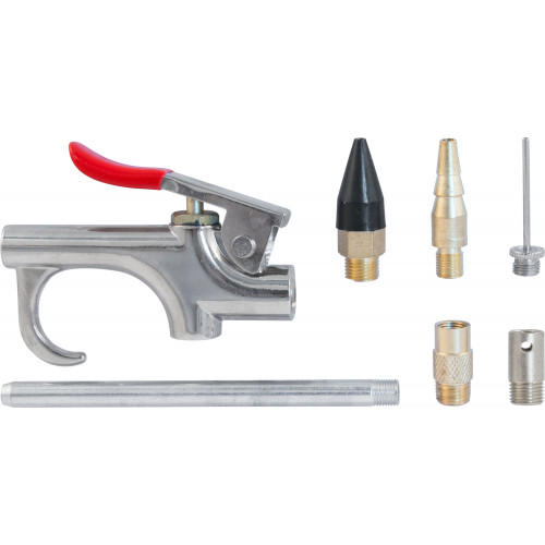 ABGK7 Thorvik Пистолет продувочный с насадками в наборе, 7 предметов