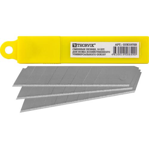 GUK197SB Thorvik Сменные лезвия для ножа хозяйственного универсального GUK197, 10 шт.