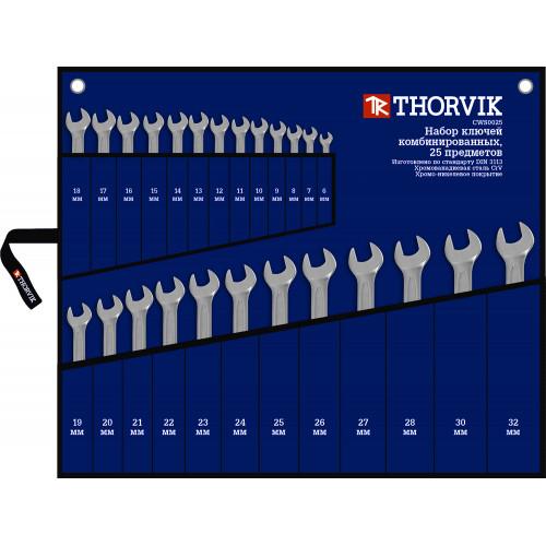 CWS0025 Thorvik Набор ключей комбинированных в сумке 6-32 мм, 25 предметов
