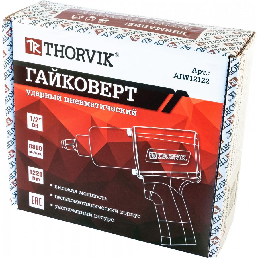 """AIW12122 Thorvik Гайковерт ударный пневматический 1/2"""" 8800 об/мин, 1220 Нм"""