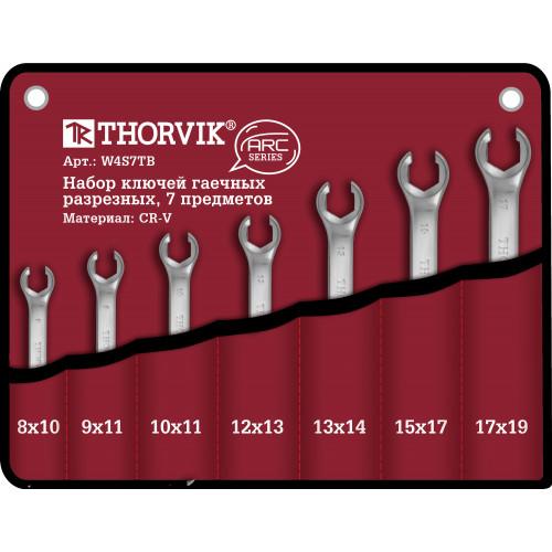 W4S7TB Thorvik Набор ключей разрезных в сумке 8-19 мм, 7 предметов