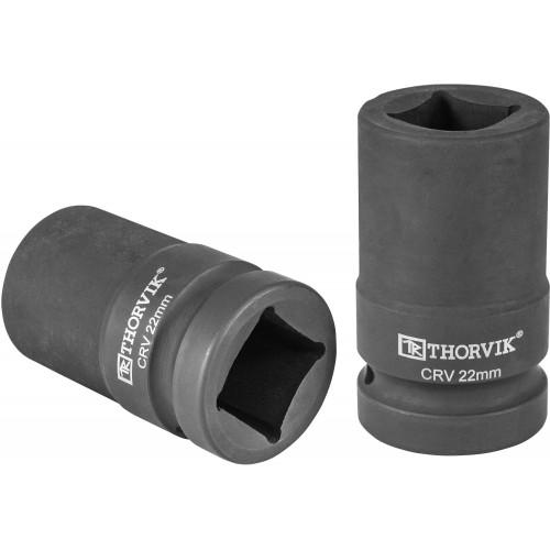 """LSWS00122 Thorvik Головка торцевая 4-х гранная для ручного гайковерта 1"""" 22 мм"""